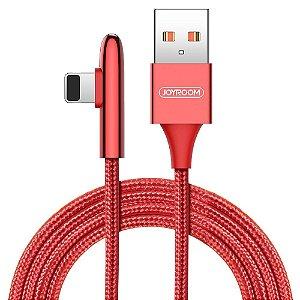 CABO USB PARA TIPO C 90GR 1,2 METRO NYLON VERMELHO JOYROOM S-M98K