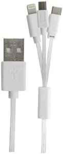 CABO USB IPHONE LIGHTNING  V8 MICRO USB TIPOC 1,2 METRO USAMS