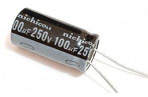 CAPACITOR ELETROL 100MFX250V 16X25M 105G