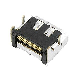 CONECTOR HDMI FEMEA SMD PARA PCI C/FIXACAO