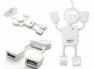 HUB 4PORTA MINI USB 2.0 PRETO IMP CPL