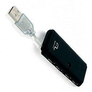 HUB 4PORTA MINI USB 2.0 UNIVERSAL MULTIL