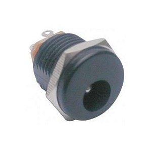 JACK J4DC PAINEL 2,1X5,5MM C/PORCA PLAST