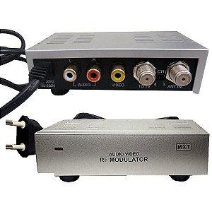 MODULADOR RF DVD C/DUAS ENTRADAS A/V BIV
