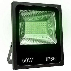 Refletor 1led Smd 50w Verde Preto Empal