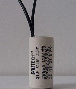 CAPACITOR PARTIDA 3MFX250VAC 2FIOS S/ABA