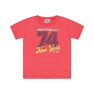 Camisa em meia malha moulinê cor vermelho