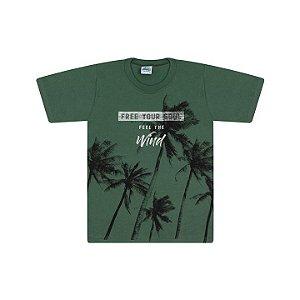 Camisa em meia malha cor verde floresta
