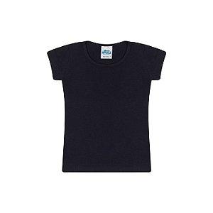 Blusa de manga em cotton cor preto