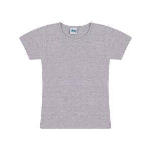 Blusa de manga em cotton cor mescla