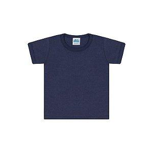 Camisa em meia malha cor marinho