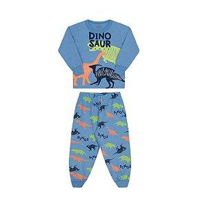 Pijama masculino manha longa que brilha no escuro cor azul pavão