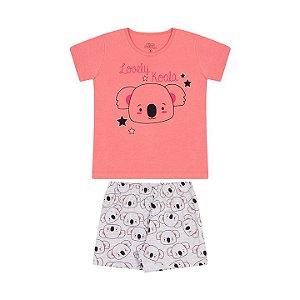 Pijama feminino que brilha escuro rosa alegre e mescla banana