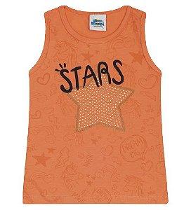 Blusa Estampada para meninas na cor tangerine