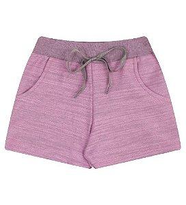 Bermuda para meninas na cor rosa babaloo