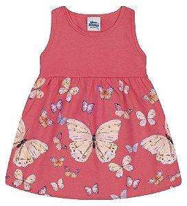 Vestido para meninas cor coral