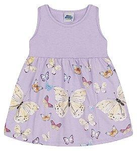 Vestido para meninas cor lilás