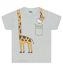 Camiseta Estampada para meninos na cor verde água