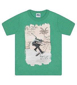 Camiseta Estampada para meninos na cor verde marine