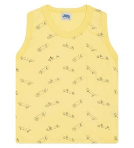 Regata Estampada para meninos na cor amarela
