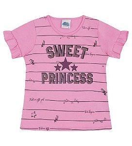 Blusa Estampada para meninas na cor rosa babaloo