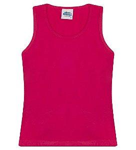 Regata básica cor pink e gola redonda
