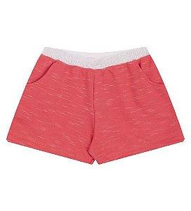 Shorts para meninas na cor coral