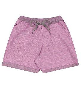 Shorts em moleton leve para meninas na cor rosa babaloo