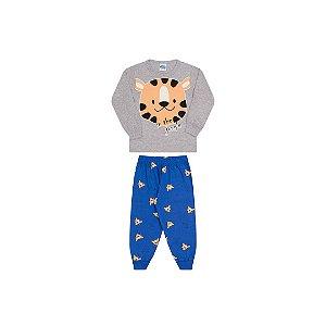 Pijama cor mescla, estampa tigre que brilha escuro
