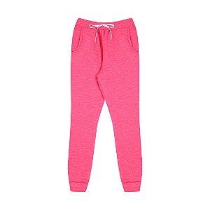 Calça de moletom moline com cordão cor pink