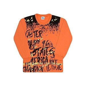 Camisa em meia malha cor queimado