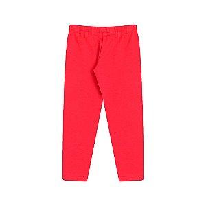 Calça legging em molecotton na cor vermelho