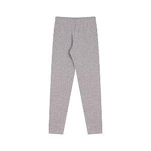 Calça legging em cotton com elastico no cós cor mescla