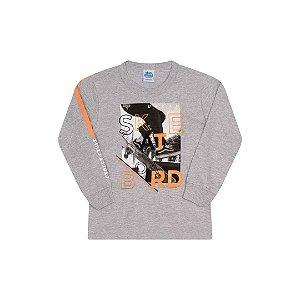 Camisa cor mescla com estampa frontal com detalhes em gel nas letras