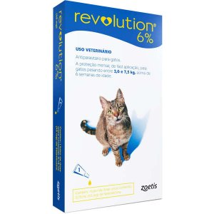 Antipulgas e Carrapatos Zoetis Revolution 6% para Gatos