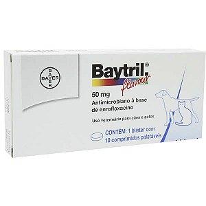 Antibiótico Bayer Baytril Flavour Enrofloxacino 50 mg - 10 comprimidos