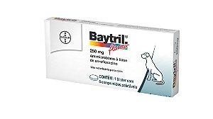 Antibiótico Bayer Baytril Flavour Enrofloxacino 250 mg - 06 Comprimidos