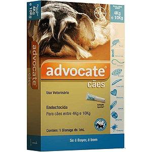 Antipulgas Bayer Advocate para Cães de 4 a 10 Kg - 1,0 mL