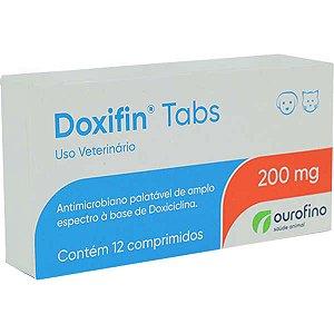Antimicrobiano Ourofino Doxifin Tabs 12 Comprimidos 200 mg