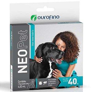 Antipulgas e Carrapatos Ourofino Neopet 4,02 mL para Cães acima de 40 Kg