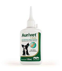 Aurivet Clean Vetnil Solução Limpeza otológica 120ml