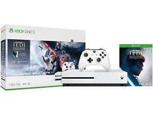 Xbox One S 1TB 1 Controle Microsoft com 1 Jogo - 1 Mês de Xbox Live Gold