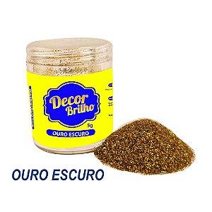 GLITTER OURO ESCURO 5G DECOR BRILHO