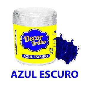 PÓ PARA DECORAÇÃO AZUL ESCURO 4G DECOR BRILHO