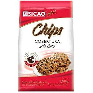 COBERTURA AO LEITE MAIS CHIPS SICAO 1,01KG