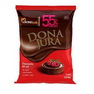 CHOCOLATE EM PÓ SOLÚVEL 55% CACAU DONA JURA 1,005KG CACAUFOODS