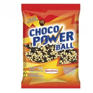 CHOCO POWER BALL SABOR CHOCOLATE E CHOCOLATE BRANCO 500G MAVALÉRIO