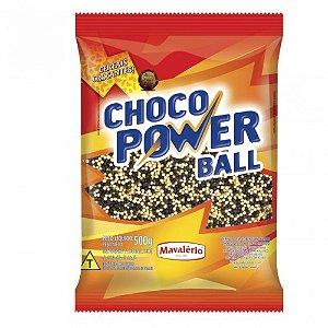 CHOCO POWER BALL MINI SABOR CHOCOLATE E CHOCOLATE BRANCO  500G MAVALÉRIO
