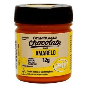CORANTE P/ CHOCOLATE 12G AMARELO MIX