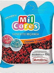 CONFEITO MIÇANGA PRETA E VERMELHA Nº 0 MIL CORES 150G MAVALERIO